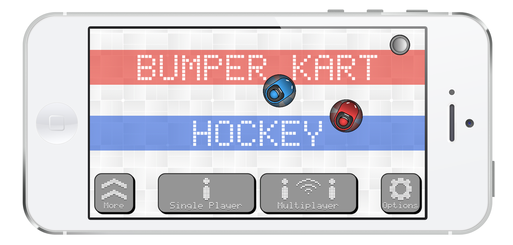 Bumper Kart Hockey Menu
